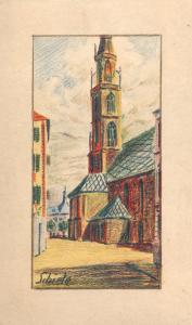 Egon Schiele, Kirke von Bozen, 1906