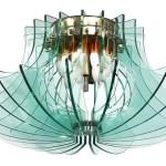 fontana-arte-importante-lampada-a-sospensione-formata-da-struttura-in-acciaio-nichelato-e-lastre-ad-incastro-in-vetro-trasparente-di-colore-verde-nilo.-708