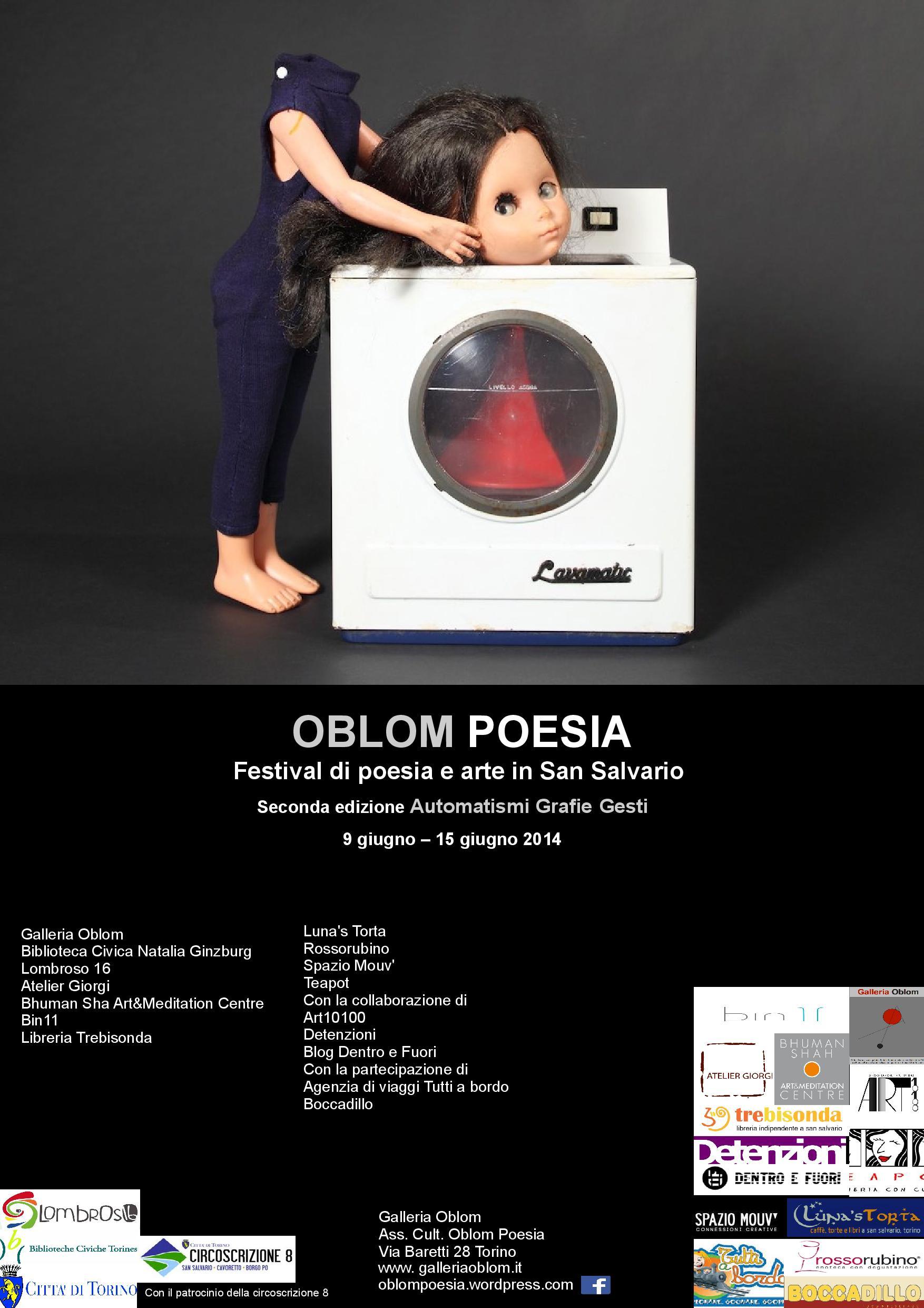 OBLOM Poesia 2014, Immagine di Caterina Scala