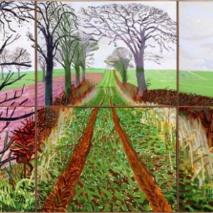 David Hockney, A Closer Winter Tunnel, febbraio-marzo 2006, courtesy Collection Art Gallery New South Wales, Sydney