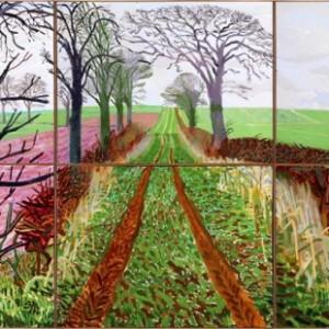 David Hockney, A Closer Winter Tunnel, febbraio-marzo 2006, courtesy Collection Art Gallery New South Wales, Sydney