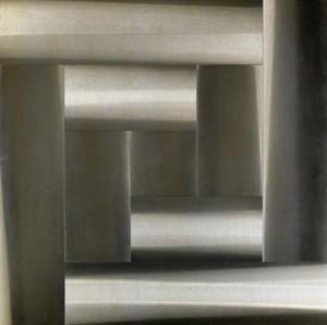 Getulio Alviani, Superficie a Testura Vibratile, 1962, alluminio fresato, misure variabili, Johan & Levi