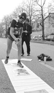 Mauro Franco, Jean-Paul Charles alla Turin Marathon 2013