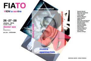 FIATO, Doctor Sax, dal 26 al 28 ottobre 2016