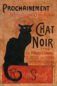 Théophile-Alexandre Steinlen, Prochainement la très illustre Compagnie du Chat Noir…, litografia a colori, manifesto per Lo Chat Noir (proveniente dalla collezione personale di Rodolphe Salis), Paris, 1894