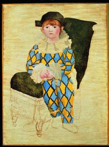 Pablo Picasso Paul en Arlequin [Paolo vestito da Arlecchino], 1924