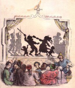 Jean-Jacques Grandville, La Berlino delle illusioni, incisione su rame, acquarello, Paris, 1840- 1850