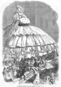 Carnevale 1858 crinolina Circolo Artisti Via Po