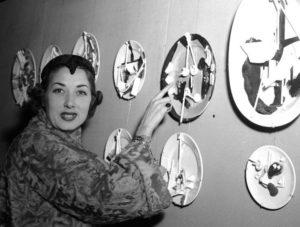 Lauretta Masiero all'inaugurazione del Circolo degli Artisti nel 1954