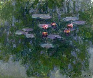 Claude Monet (1840-1926), Nymphéas, 1916-1919. Huile sur toile, 130x152 cm