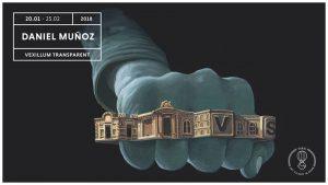 Flayer della mostra Daniel Muñoz (San) - Vexillum Transparent alla Galleria Varsi di Roma