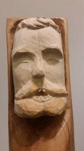 Particolare di una scultura di Andrea Gandini in mostra presso La Clessidra - Sala Blu