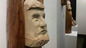 Alcune delle sculture di Andrea Gandini in mostra
