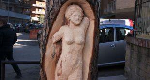 Andrea Gandini, lo scultore degli alberi a Roma