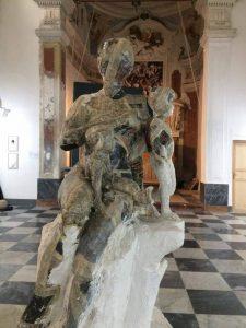 Una delle opere dei fratelli Alviti esposte alla Bias di Palermo