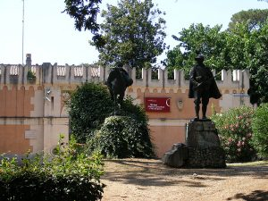 L'ingresso del Museo Pietro Canonica