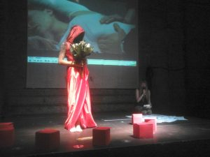 Manuela Maroli, Homo Homini Virus, live performance, ph. Ariase Barretta