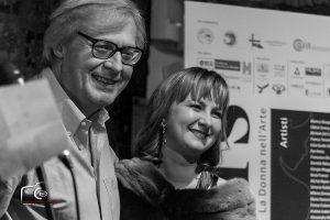 Vittorio Sgarbi e Eva Amos durante la scorsa edizione