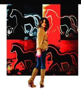Alessia Silvano, Red Horses, acrilico su tavola, 200x200