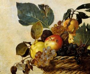 FoodArs. Dettaglio da La Canestra Di Futta di Caravaggio per l'Arte dell'Allegoria di Claudio Corrado