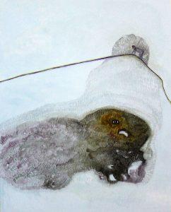 Claudia Zuriato, dream seeker, acquerello su tela, 2019