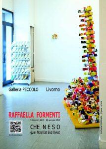 Locandina della mostra di Raffaella Formenti presso la Galleria Peccolo, Livorno