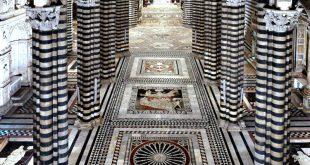 Siena: il pavimento del Duomo e la Porta del cielo