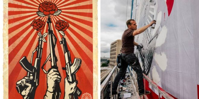 """SHEPARD FAIREY. 3 DECADES OF DISSENT"" – GALLERIA D'ARTE MODERNA ROMA"