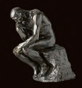 Auguste Rodin Il pensatore, dimensione originale