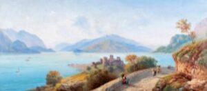 Carlo Bossoli - Veduta del lago di Como
