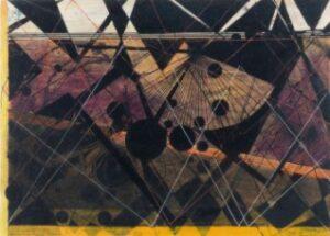 Luigi Spazzapan - Composizione geometrica (con cerchi neri e ventaglio)