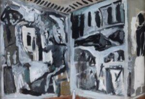 Mario Sironi - Studio d'interno con pitture murali